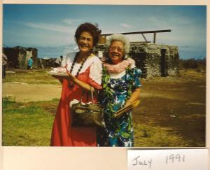 Caroline Tolentino and Pauline (Girlie) Marciel Gregoire. 1991